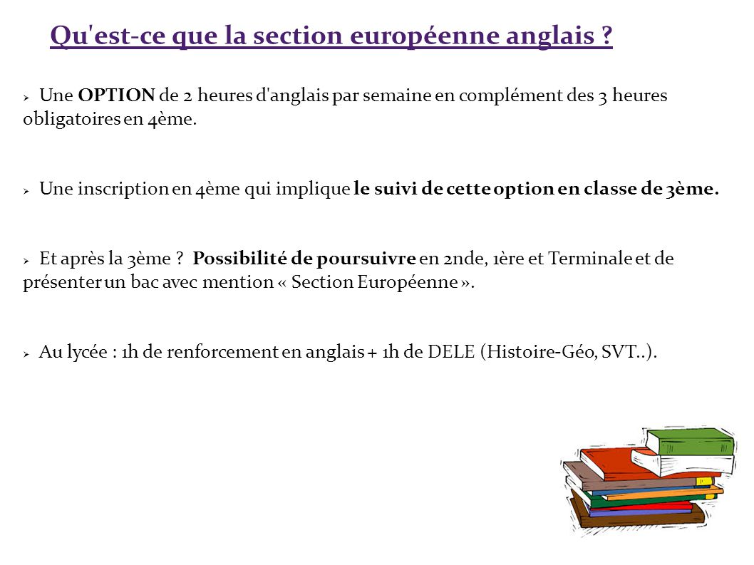 la section europ u00e9enne anglais