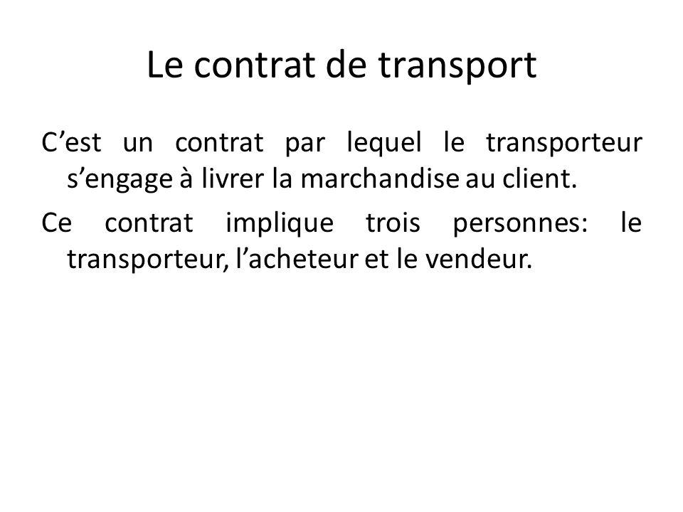 Le contrat de transport