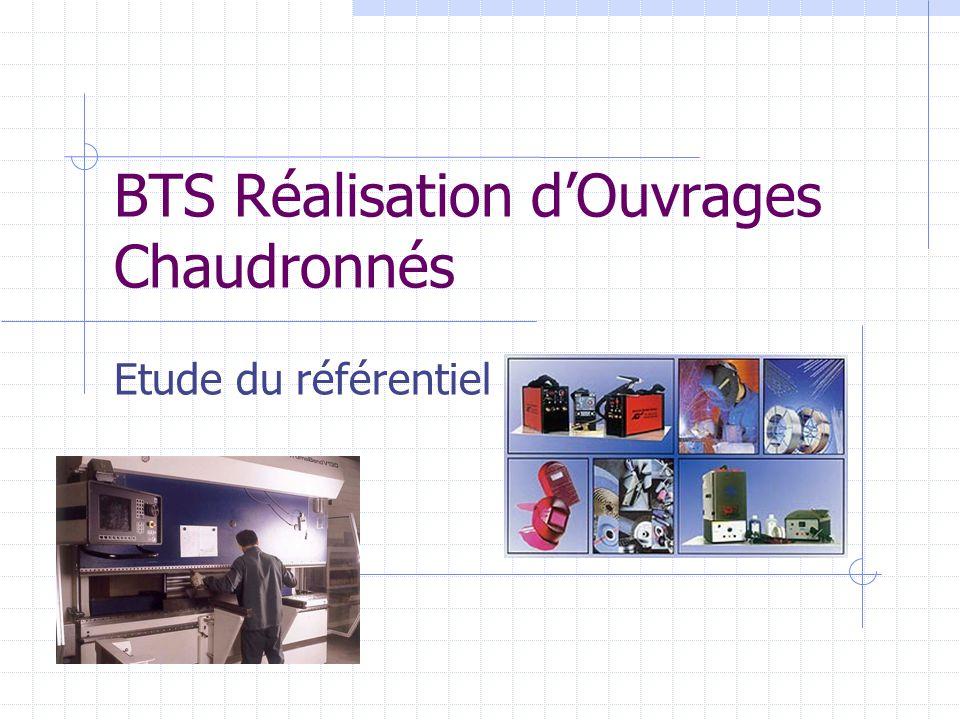 BTS Réalisation d'Ouvrages Chaudronnés