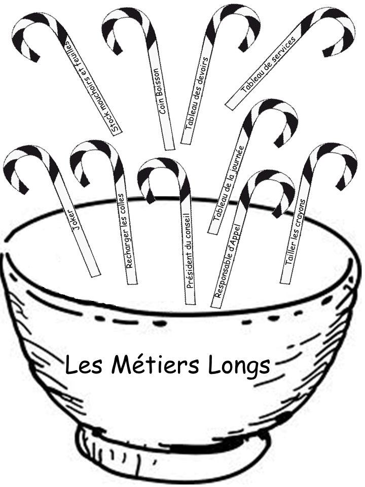 Les Métiers Longs Tableau de services Stock mouchoirs et feuilles