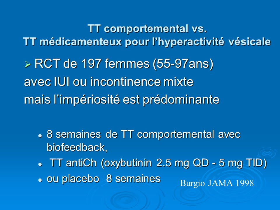 Incontinences urinaires de la personne âgée - ppt video