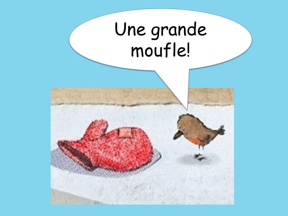 Une grande moufle! It's a big mitten!