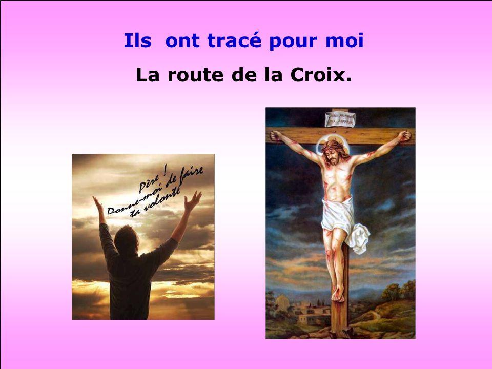 Ils ont tracé pour moi La route de la Croix.