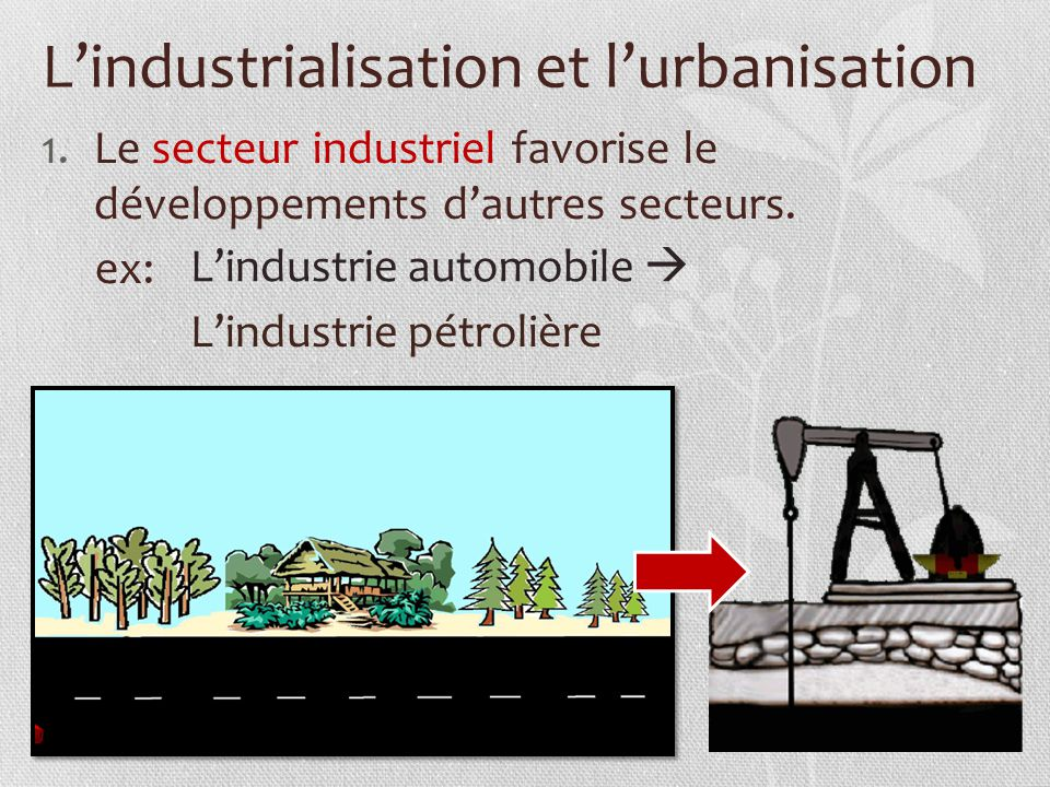 industrialisation and urbanisation Indusralisation and urbanisation are related in a way that both lead to growth and development which is manifested further bythe improvement of people's quality of life.