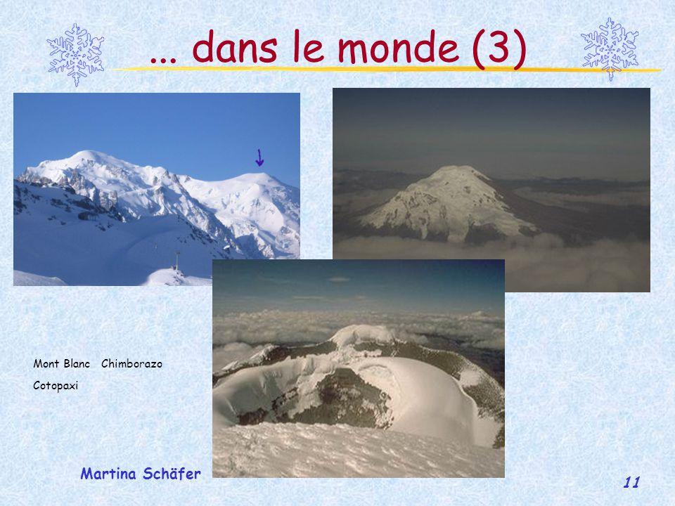 ... dans le monde (3) Mont Blanc Chimborazo Cotopaxi Martina Schäfer