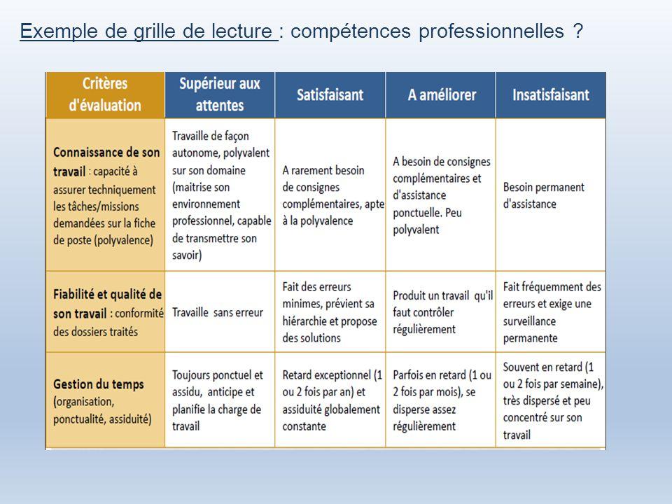 L entretien professionnel au 1er janvier ppt video online - Grille des competences professionnelles ...