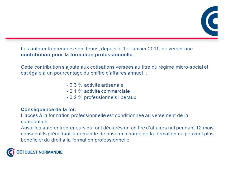 R union d information auto entrepreneur ppt video online - Formation auto entrepreneur chambre de commerce ...