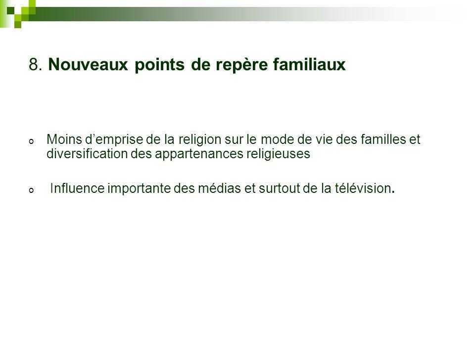 8. Nouveaux points de repère familiaux