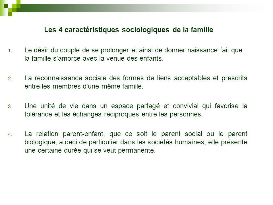 Les 4 caractéristiques sociologiques de la famille