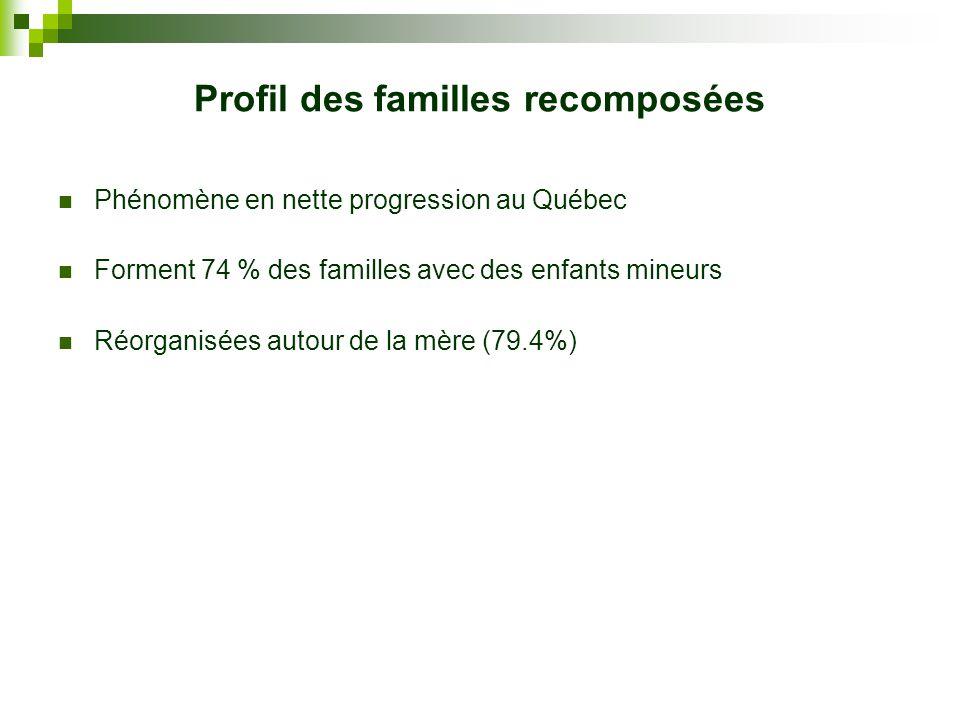 Profil des familles recomposées