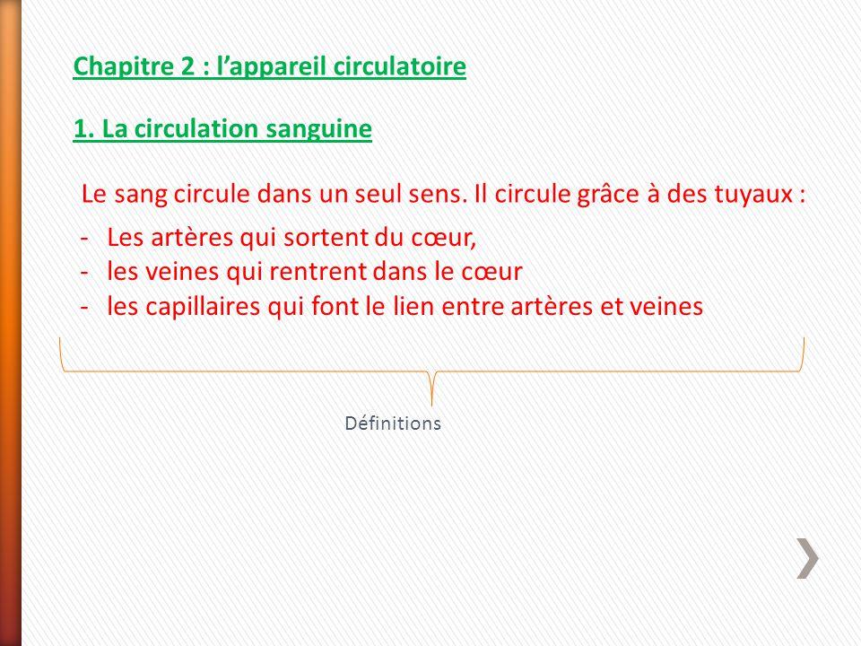 Chapitre 2 : l'appareil circulatoire