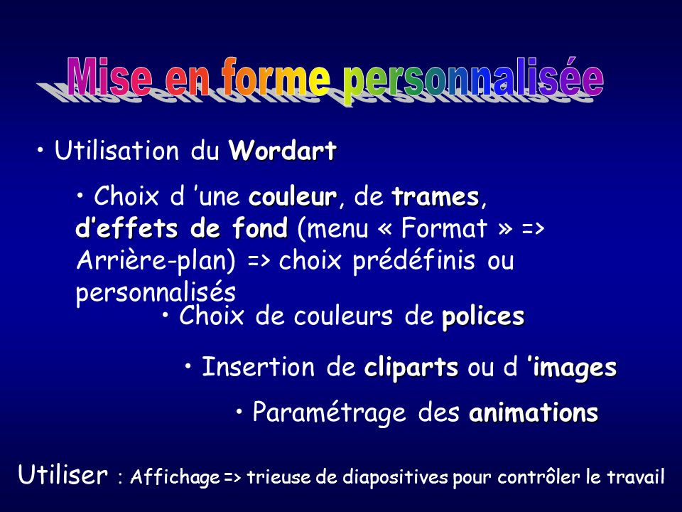 comment utiliser power point
