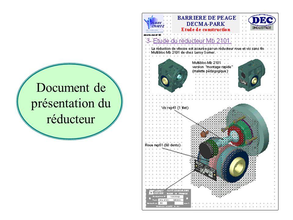 Document de présentation du réducteur