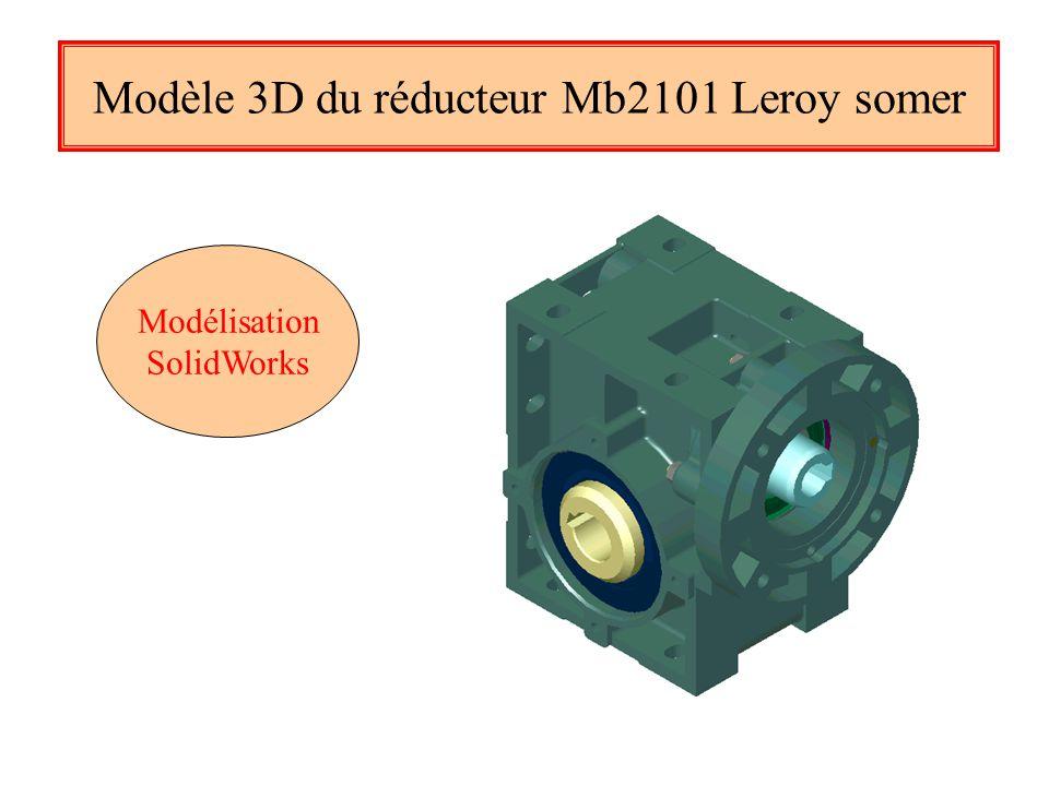 Modèle 3D du réducteur Mb2101 Leroy somer