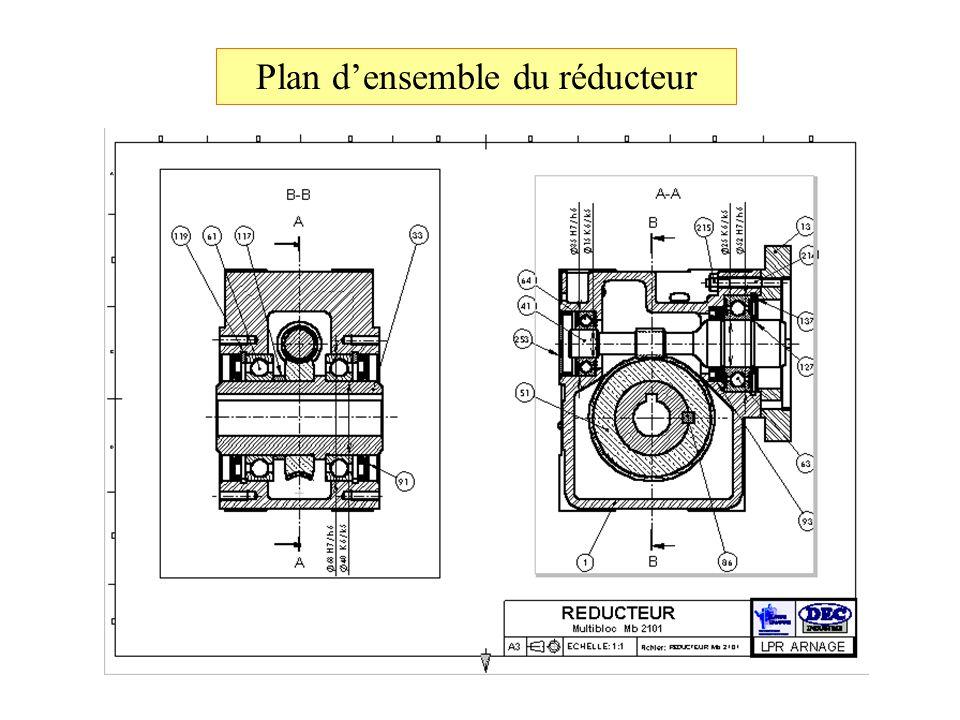 Plan d'ensemble du réducteur