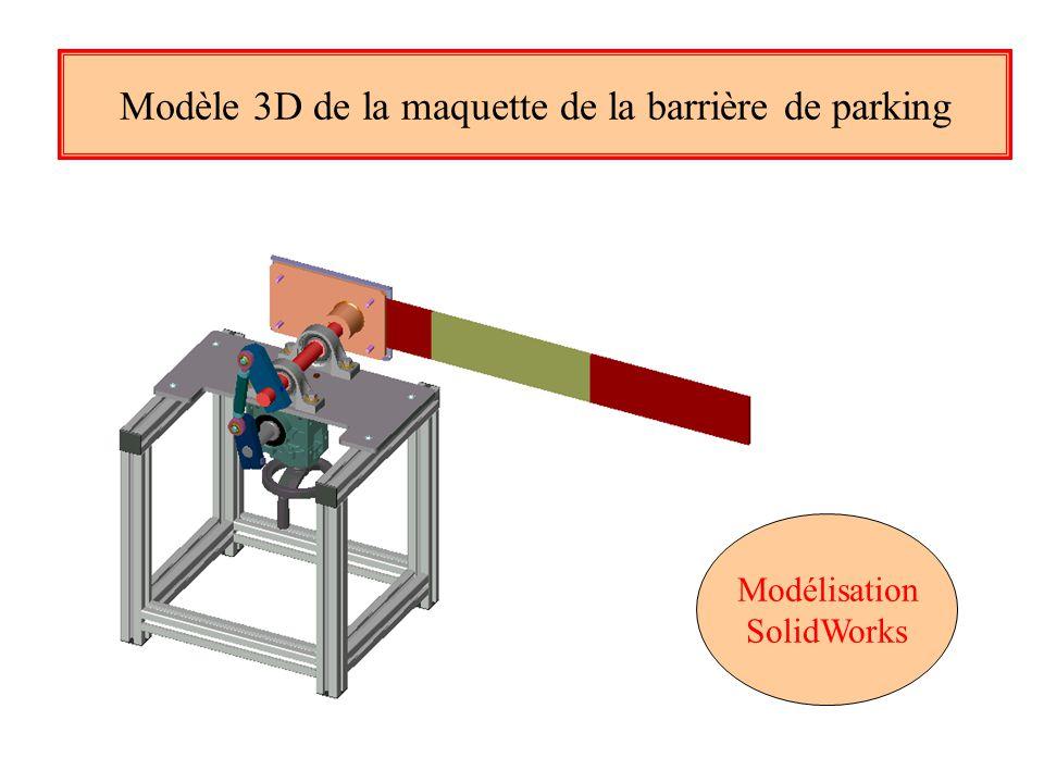 Modèle 3D de la maquette de la barrière de parking