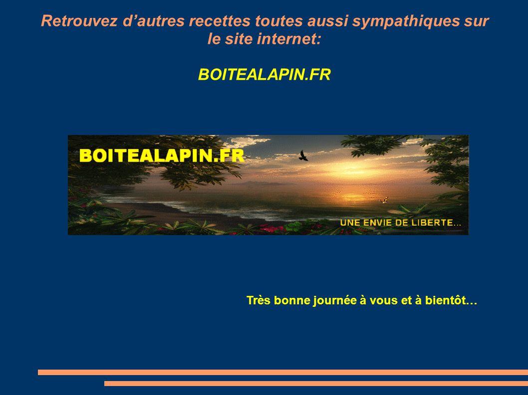 Retrouvez d'autres recettes toutes aussi sympathiques sur le site internet: BOITEALAPIN.FR