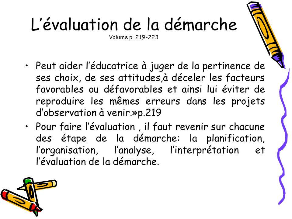L'évaluation de la démarche Volume p. 219-223