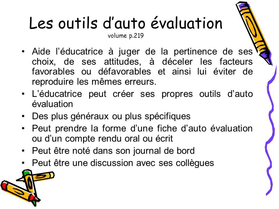 Les outils d'auto évaluation volume p.219