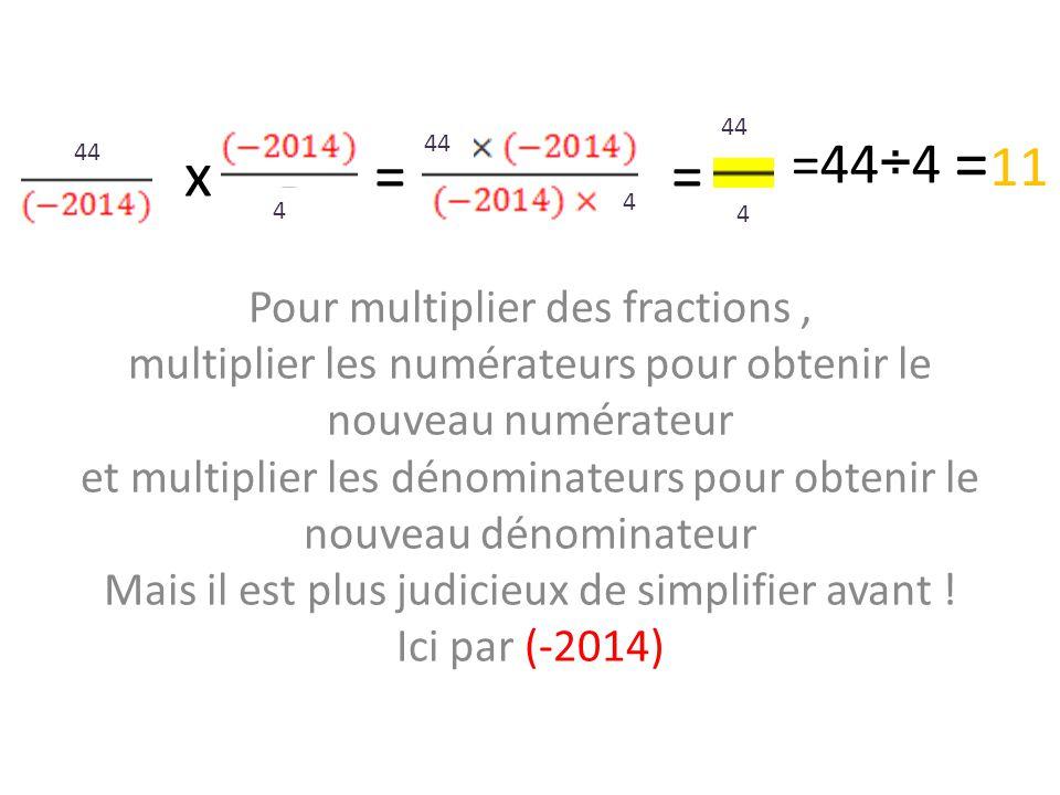 x = = 44. =11. 44. =44÷4. 44. 4. 4. 4.