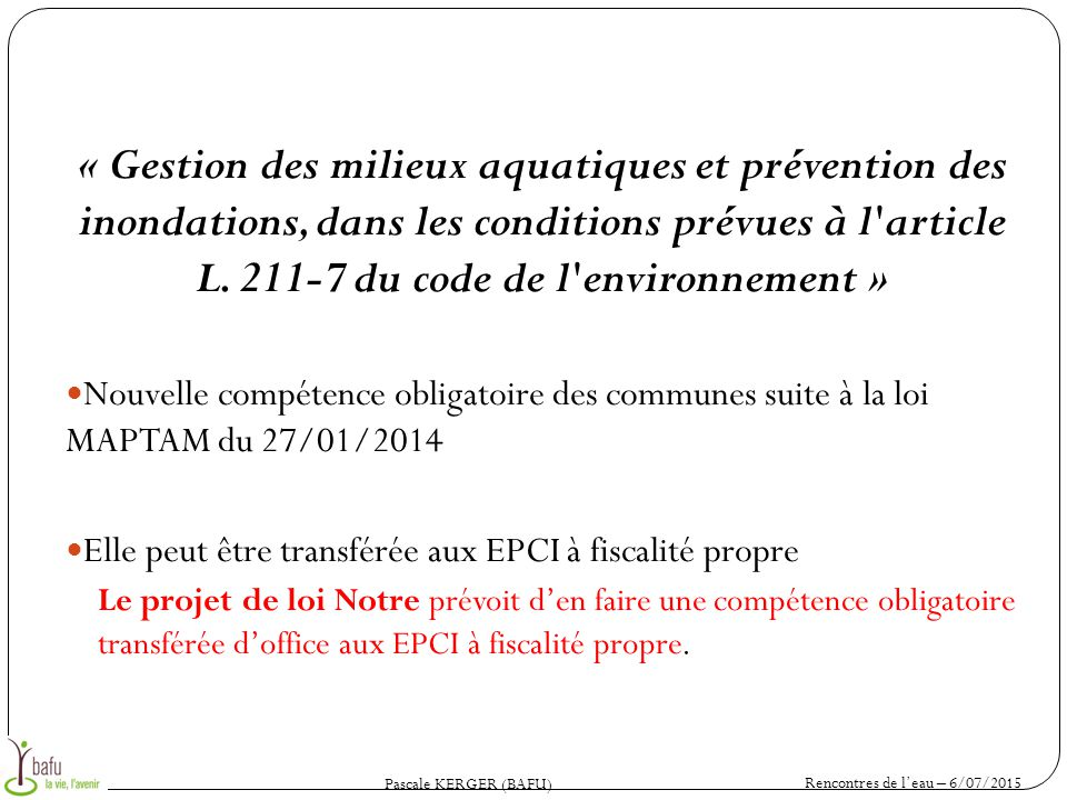 Rencontres de l eau 6 7 et 10 juillet ppt t l charger - Office national de l eau et des milieux aquatiques ...
