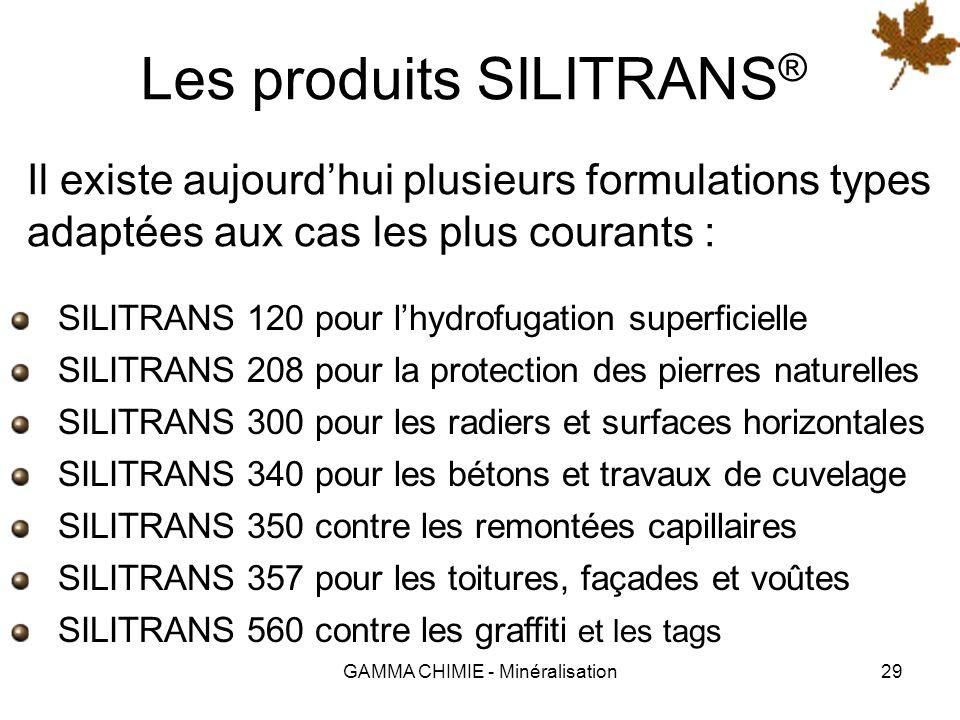 Les produits SILITRANS®