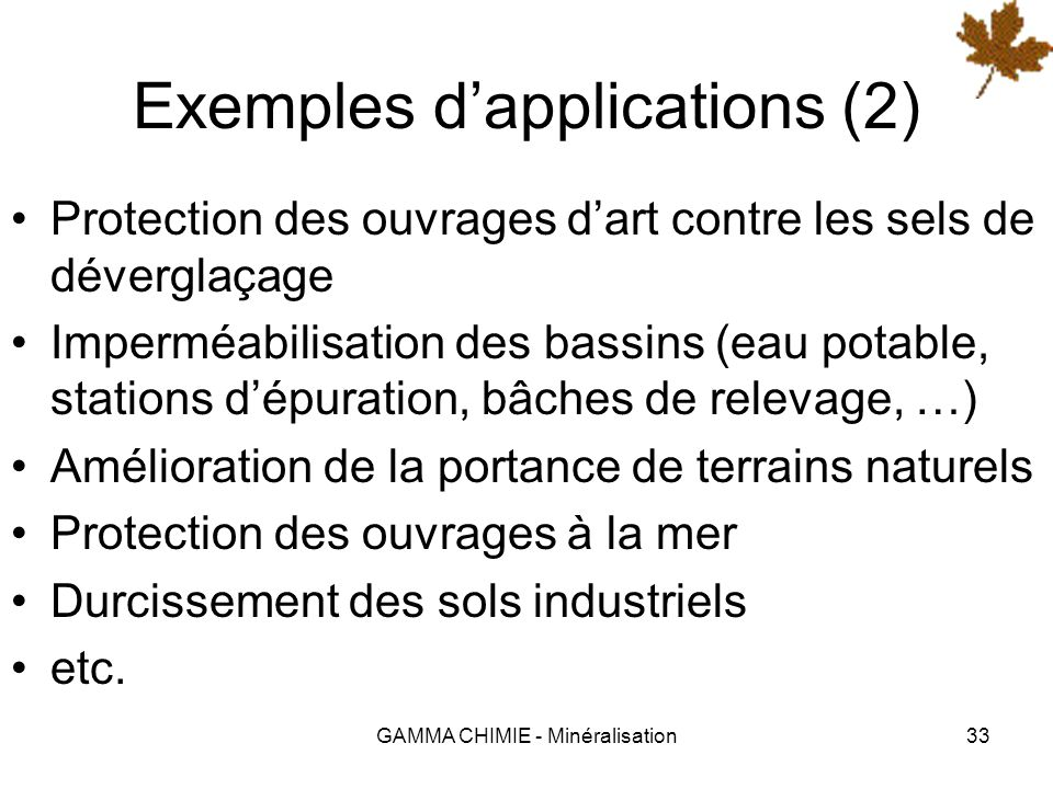 Exemples d'applications (2)