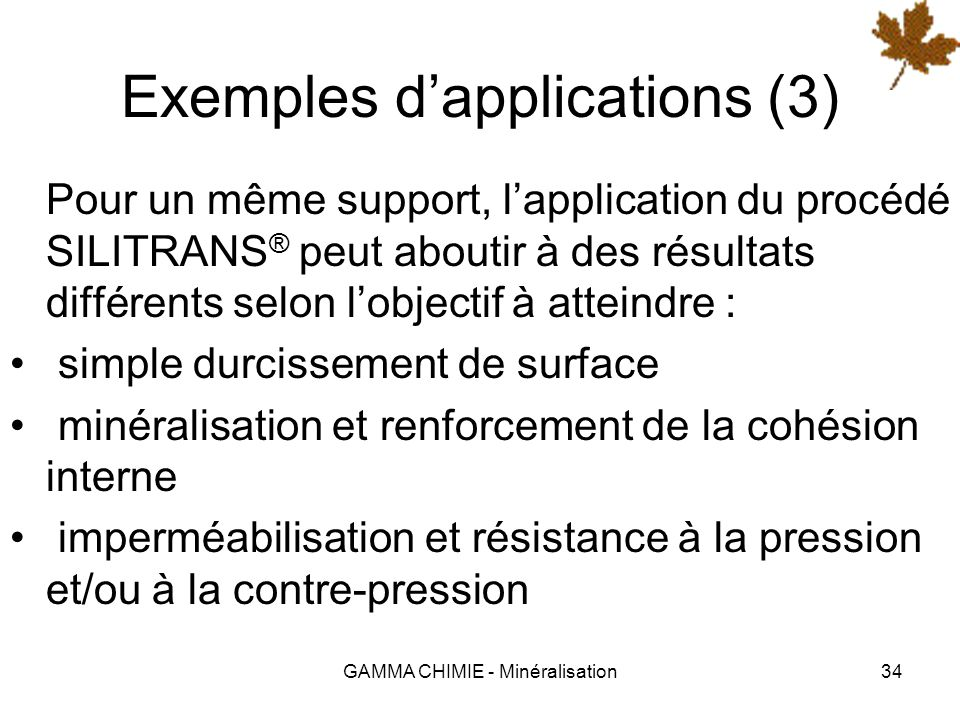 Exemples d'applications (3)