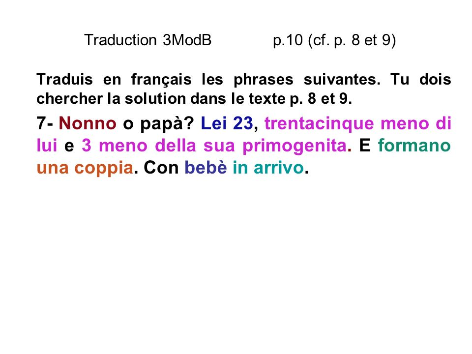 Traduction 3ModB p.10 (cf. p. 8 et 9)