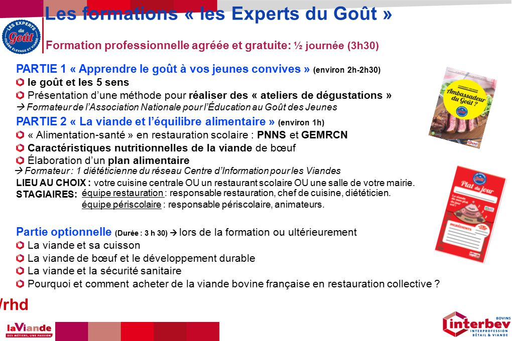 5 m comit r gional de l alimentation ppt t l charger for Responsable de cuisine collective