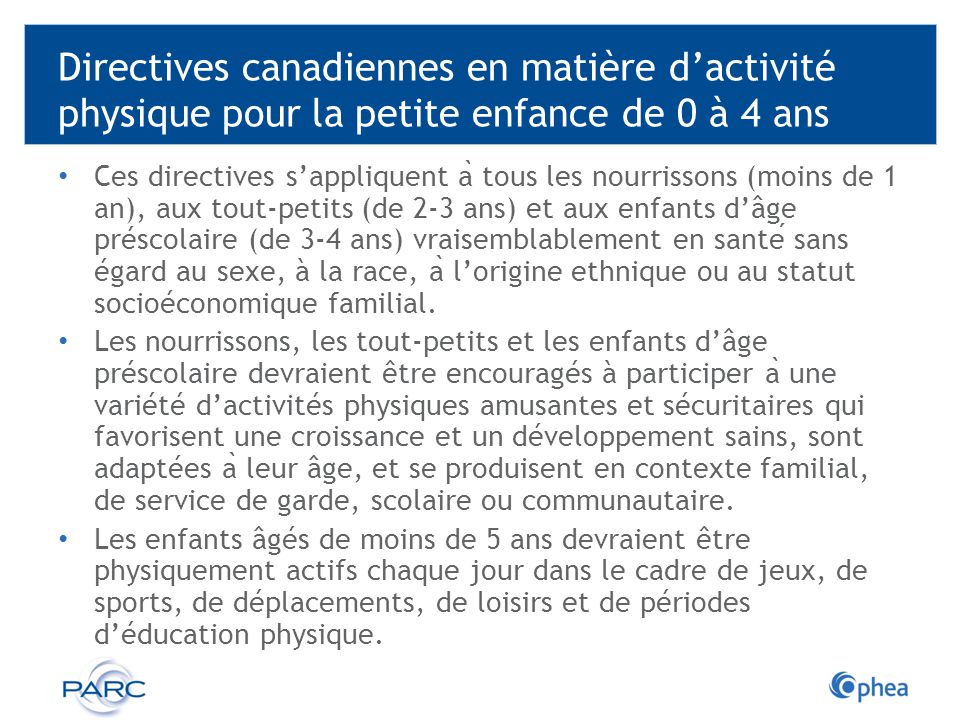 Préférence L'activité physique et la petite enfance - ppt télécharger TU88