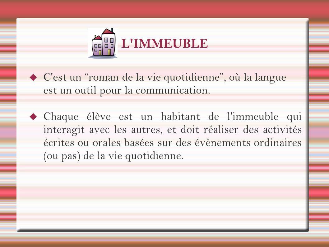 L IMMEUBLE C est un roman de la vie quotidienne , où la langue est un outil pour la communication.