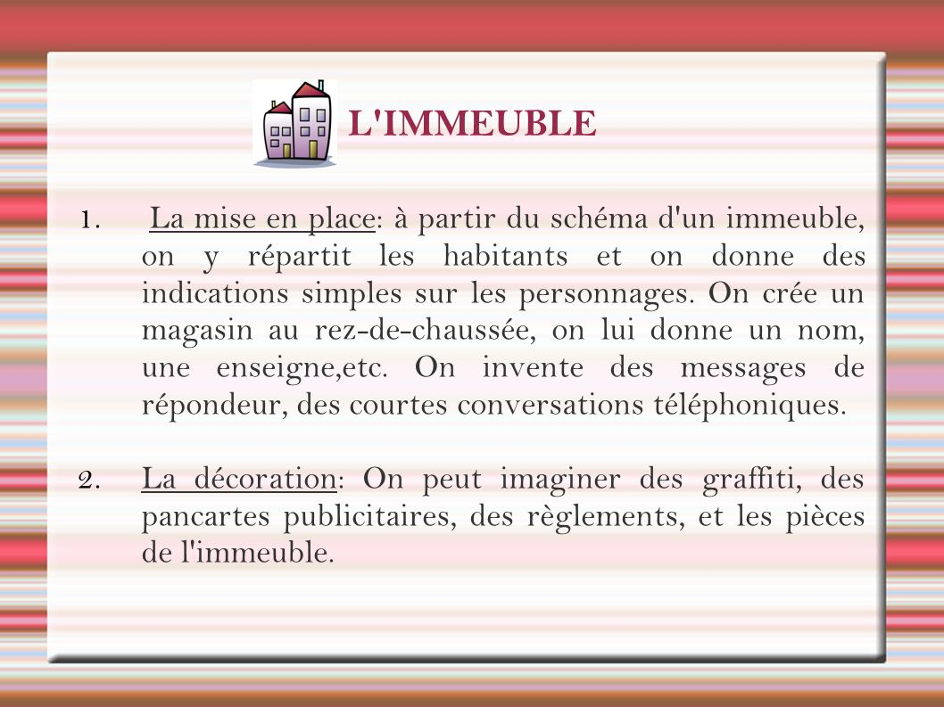 L IMMEUBLE
