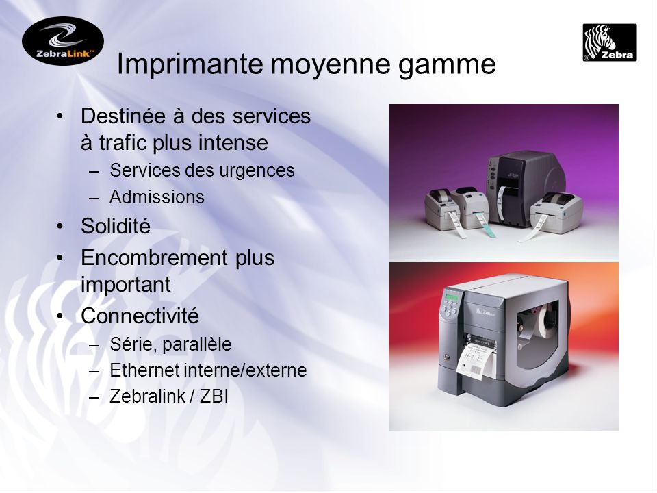 Imprimante moyenne gamme