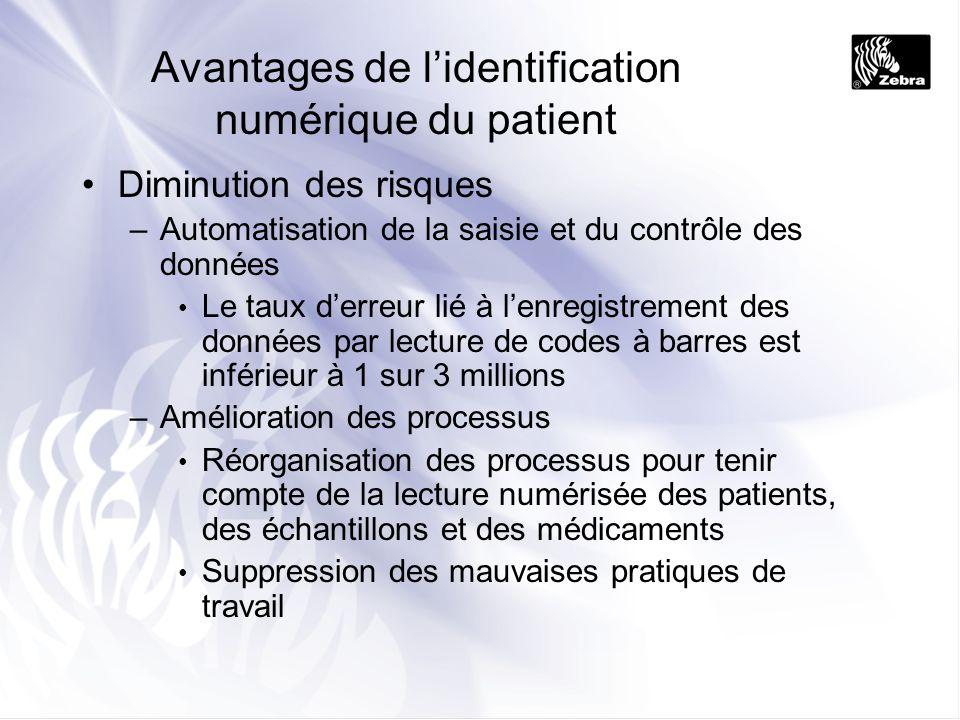 Avantages de l'identification numérique du patient
