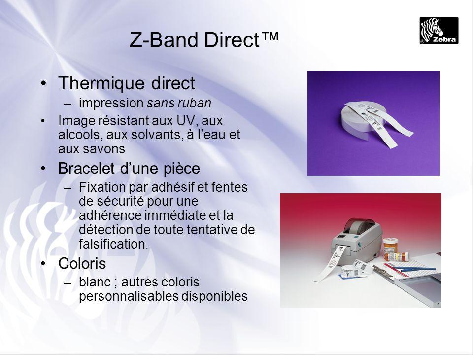 Z-Band Direct™ Thermique direct Bracelet d'une pièce Coloris