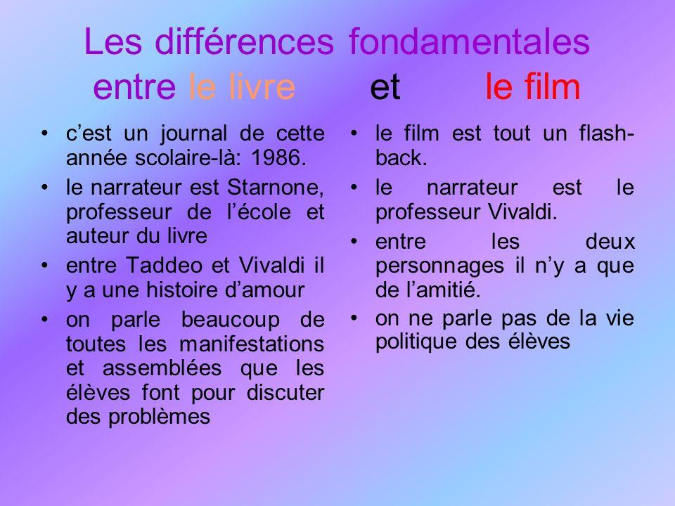 Les différences fondamentales entre le livre et le film