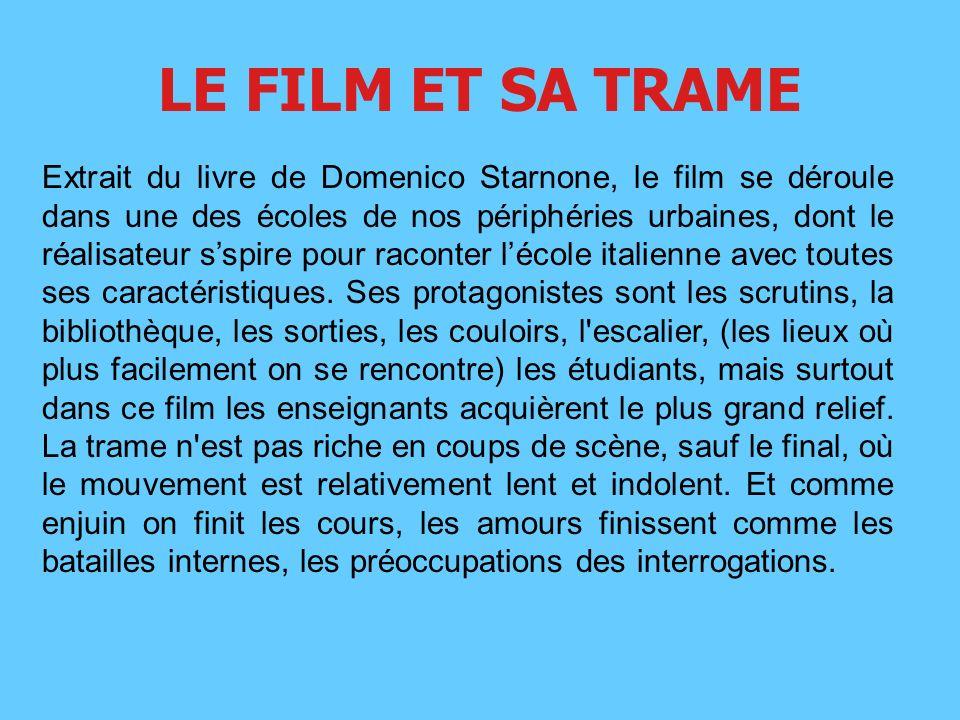 LE FILM ET SA TRAME