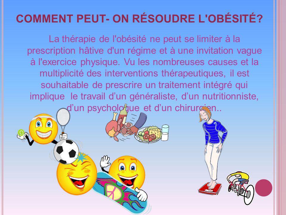 COMMENT PEUT- ON RÉSOUDRE L OBÉSITÉ