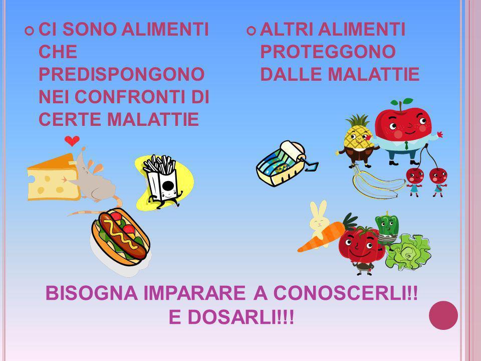 BISOGNA IMPARARE A CONOSCERLI!! E DOSARLI!!!