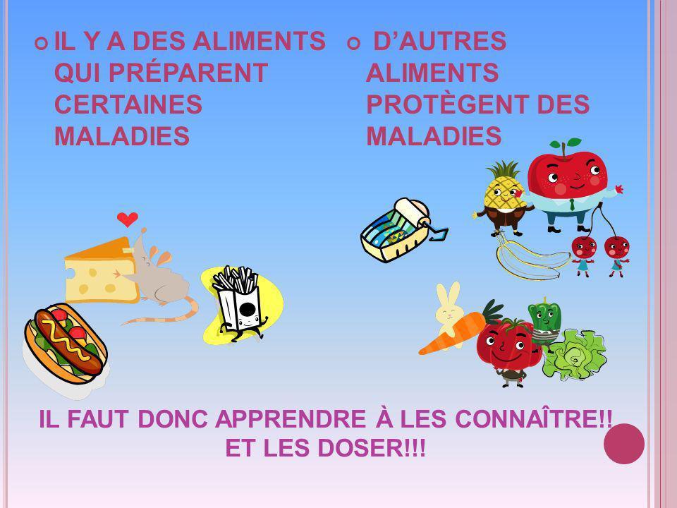 IL FAUT DONC APPRENDRE À LES CONNAÎTRE!! ET LES DOSER!!!