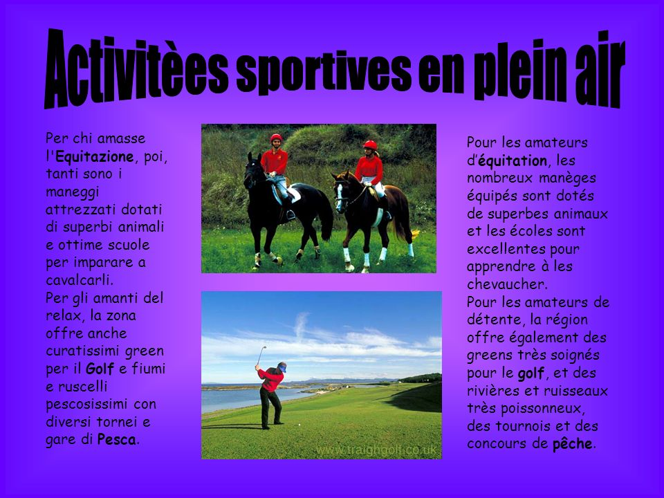 Activitèes sportives en plein air