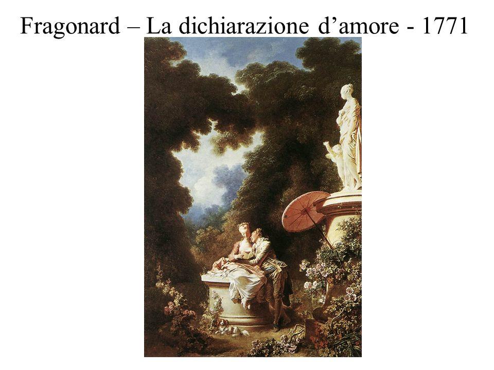 Fragonard – La dichiarazione d'amore - 1771