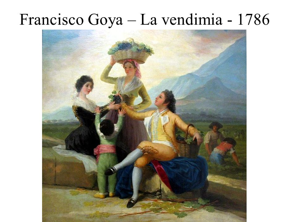 Francisco Goya – La vendimia - 1786