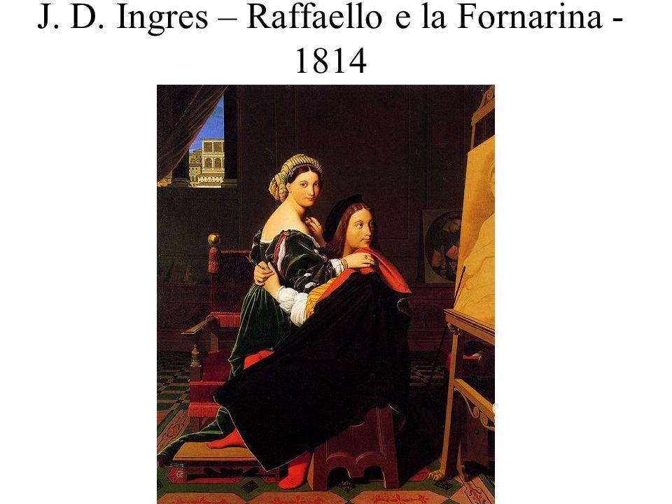 J. D. Ingres – Raffaello e la Fornarina - 1814