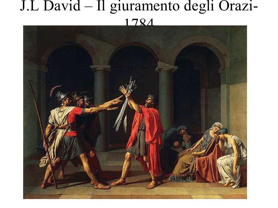 J.L David – Il giuramento degli Orazi- 1784
