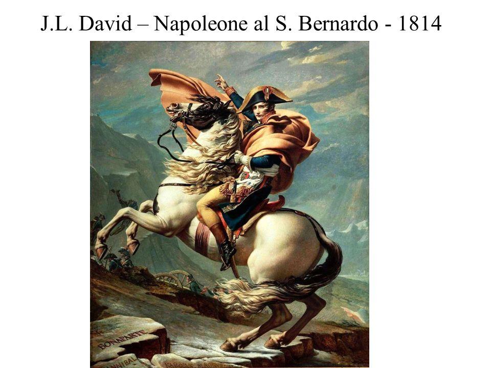 J.L. David – Napoleone al S. Bernardo - 1814