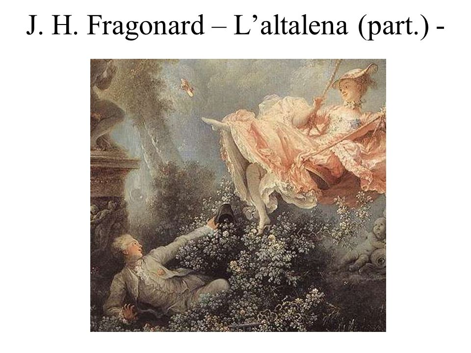 J. H. Fragonard – L'altalena (part.) -