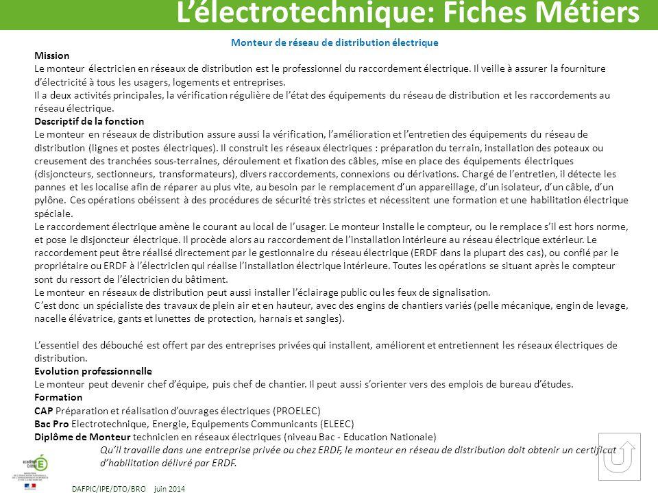 L lectrotechnique m tiers et formations dafpic ppt - Technicien bureau d etude electricite ...