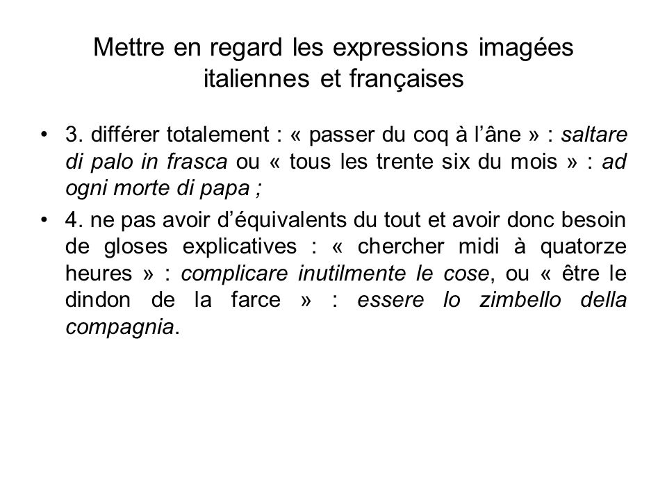 Langue traduction et culture modalit d esame ppt for Farcical traduction
